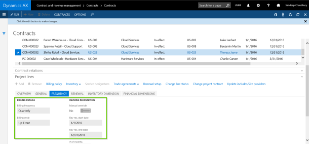 Billing and Revenue Recognition Setup with AXIO for Dynamics AX