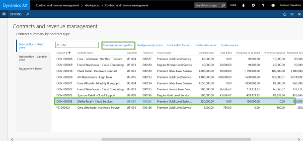 Run Revenue Recognition with AXIO for Dynamics AX