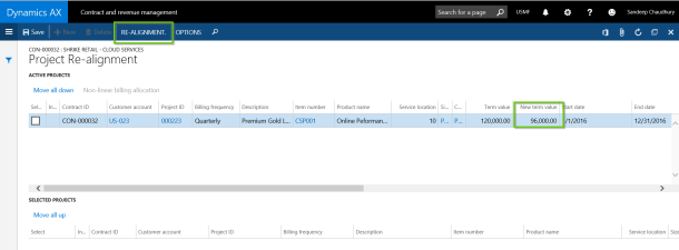 Teresa runs realignment with AXIO for Dynamics AX